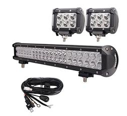 LED Light Bar, Bangbangche 20'' 126W Flood Spot Combo LED Ba