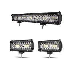Autofeel LED Light Bar, 20 Inch 258W + 2PCS 7 Inch 36W Tripl