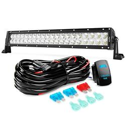 Nilight LED Light Bar 22Inch 120W Spot Flood Combo Led Off R