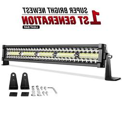 LED Light Bar DWVO 22Inch 300W Triple Row 20000LM Upgrated C
