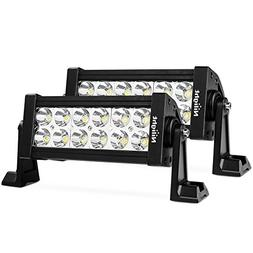 Nilight LED Light Bar 2PC 7Inch 36W Spot LED Work Light Off