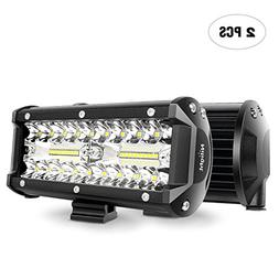 LED Light Bar Nilight 2PCS 6.5 Inch 120W Spot & Flood Combo