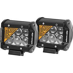 Eyourlife Led Light Bar,2Pcs 6000K 18W 4Inch 4D Lens Spot Be
