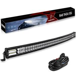 LED Light Bar, YITAMOTOR 396W 5D 52 inch Curved Light Bar Sp