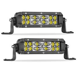 LED Light Bar 5 inch SWATOW 4x4 72W LED Work Light Spot Floo