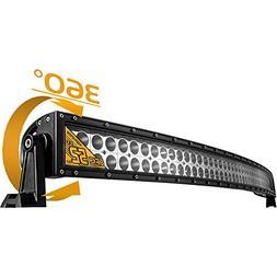 Eyourlife Led Light Bar 52'' Curved Lights 300W 17280LM Floo