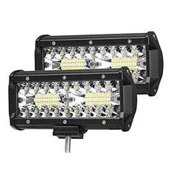 AMBOTHER LED Light Bar 7'' 240W Off Road Lights 40led Spot F
