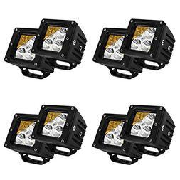 Led Light Bar Eyourlife 8PCS 20W 3.2 Inch LED Cube Fog Spot