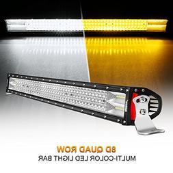 LED Light Bar Rigidhorse Dual Color Quad Row 42 Inch 588W Li