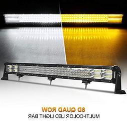 LED Light Bar Rigidhorse Dual Color Quad Row 44 Inch 600W Li