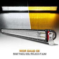LED Light Bar Rigidhorse Dual Color Quad Row 52Inch 700W Lig
