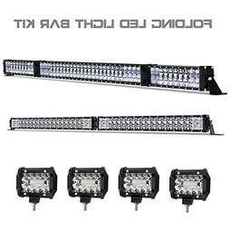 LED Light Bar Kit, Rigidhorse 120000LM 52 Inch 500W + 42 Inc