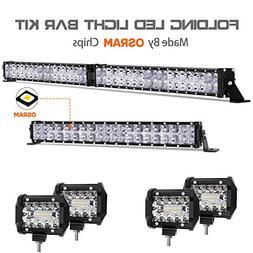 LED Light Bar Kit, Autofeel 68000LM OSRAM Chips 42 Inch + 20