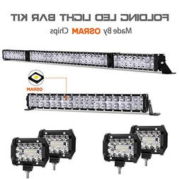 LED Light Bar Kit, Autofeel 72000LM OSRAM Chips 52 Inch + 22
