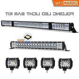 LED Light Bar Kit, Rigidhorse 84000LM 52 Inch 500W + 22 Inch