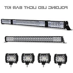 LED Light Bar Kit, Rigidhorse 98000LM 52 Inch 500W + 32 Inch