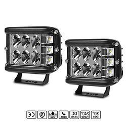 LED Light Pods, Rigidhorse 2pcs 4 Inch LED Light bar Flood S