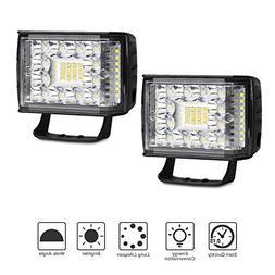 LED Light Pods, 2PCS 48W 4 Inch LED Light Pods Flood Spot Be