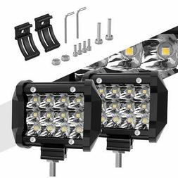 LED Light Pods, Rigidhorse Triple Row 2 Pcs 4 Inch 50W Light