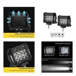 LED Light Pods, Rigidhorse Triple Row 2 Pcs 4 Inch 50W Bar S