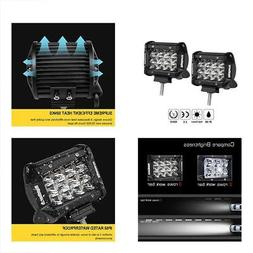 LED Light Pods, Rigidhorse Triple Row 2 Pcs 4 Inch 50W Bar S