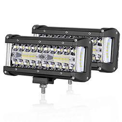 LED Pods Light, AKD Part 2pcs 7inch 200W LED Work Light Floo