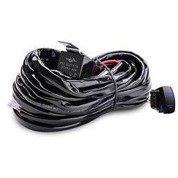 MICTUNING HD 300w LED Light Bar Wiring Harness Fuse 40 Amp R