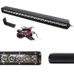 """iJDMTOY Lower Grille 20"""" LED Light Bar Kit For 2009-13 GMC S"""