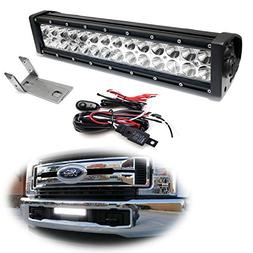 iJDMTOY Lower Grille Mount LED Light Bar Kit For 2017-up For