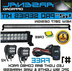 No.1 42 inch Pro Series 240W LED Light Bar & two 18W Work Li