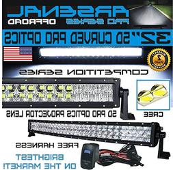 "No.1 5D 32"" Curved Pro Optics Arsenal Offroad LED Light Bar"