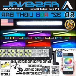No.1 5D 32 inch Pro Series RGB CREE LED Light Bar 16 Million