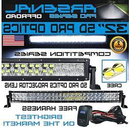 "No.1 5D 32"" Pro Optics Arsenal Offroad LED Light Bar New 201"