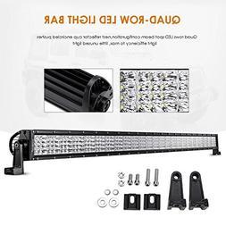 "Auxbeam Quad-Beam Series 52"" LED Light Bar Quad Row300W Wate"