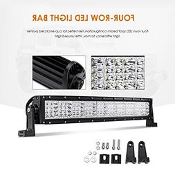 """Auxbeam Quad-Beam Series Curved 22"""" LED Light Bar 120W Quad"""