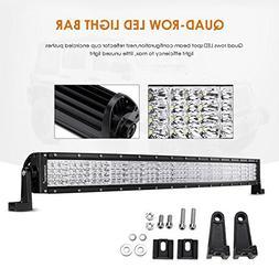"""Auxbeam Quad-Beam Series Curved 32"""" LED Light Bar 180W Quad"""