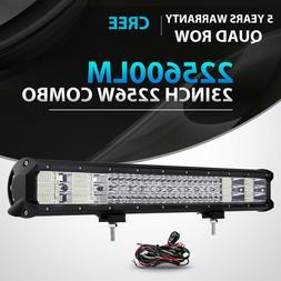 QUAD ROW 23INCH 2256W LED LIGHT BAR SPOT FLOOD OFFROAD 4X4WD