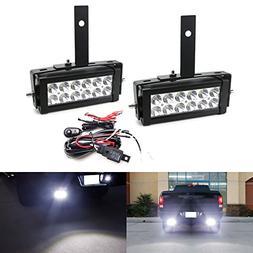 iJDMTOY Rear Bumper Mount Searchlight Reverse LED Light Bar