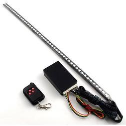 RGB 48 5050 SMD Scanning Knight Rider Light Bar Strip W/ Rem