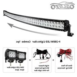 Solidex 288w 50inch Off Road Curved Combo Led Light Bar 2pcs