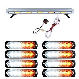 "Set 51"" White Amber 96 LED Emergency Warning Hazard Strobe L"