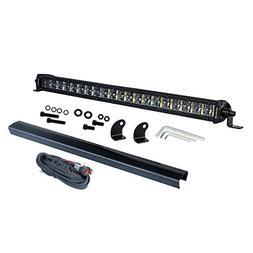 Single Row LED Light Bar, OFFROADTOWN 20 Inch 16,000 Lumens