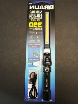 BRAUN SLIM BAR RECHARGEABLE LED WORK LIGHT/FLASHLIGHT MAGNET