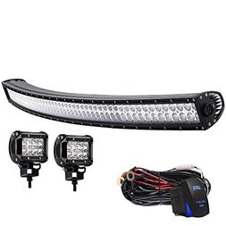 "T-Former Led Light Bar Curved 52"" Inch 300W Spot Flood Offro"