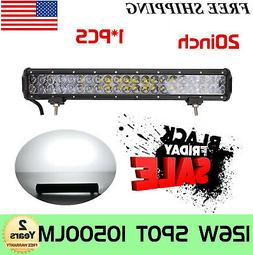 20''INCH 126W LED Work Light Bar Combo Offroad Pickup Bumper