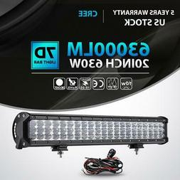 "Tri-Row 20""Inch 630W Led Work Light Bar Spot Flood Offroad 4"