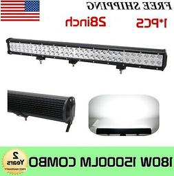 """Tri-Row 28""""Inch 396W Led Work Light Bar Offroad Driving 4WD"""