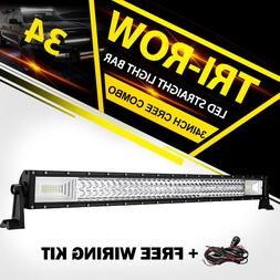 Tri-Row 34inch 1944W LED Light Bar Spot Flood Combo Truck Of