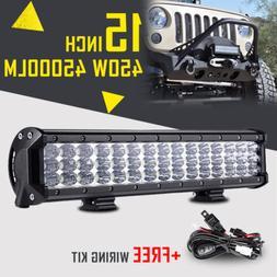 TRIPLE ROW 15INCH 450W CREE LED LIGHT BAR SPOT FLOOD COMBO O