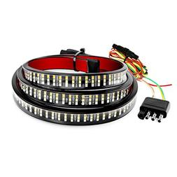 """Henzxi Truck Tailgate Bar 60"""" 3-Row LED Side Bed Light Strip"""